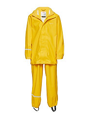 Basci rainwear set, solid - YELLOW