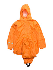Basci rainwear set, solid - ORANGE
