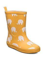 Wellies w. elephant print - MINERAL YELLOW