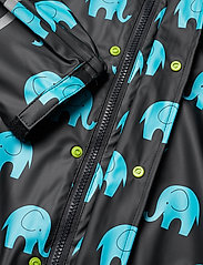 CeLaVi - Rainwear set w. elepant print - sets & suits - black - 8
