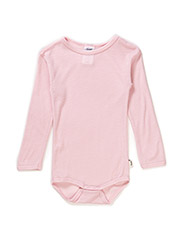 Body l/sl -coloured wool - ROSE