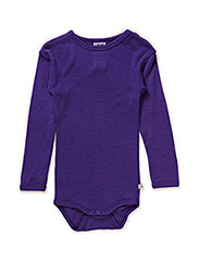 Body l/sl -coloured wool - VIOLET