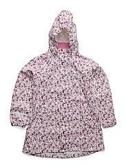 Rain jacket PU -w. AOP A-shaped - CHATEAU ROSE