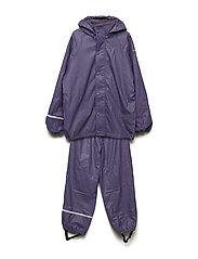 Rainwear -solid w.fleece - MULLED GRAP