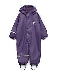 Rainwear suit - w.fleece - MULLED GRAP