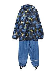 Rainwear -AOP w. fleece - VALLARTA BLUE