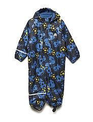 Rainwear suit -AOP w.fleece - VALLARTA BLUE