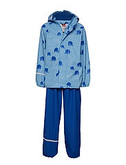 Rainwear -AOP w/o lining w. printed jacket - ALASKAN BLUE