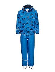 Rainwear -AOP w/o lining w. printed jacket - INDIGO BUNTING
