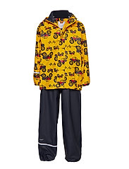 Rainwear -AOP w/o lining w. printed jacket - YELLOW