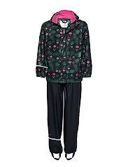 Rainwear -AOP w/o lining w. printed jacket - REAL PINK