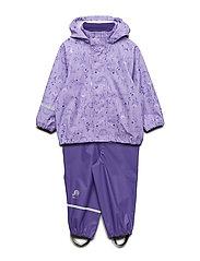 Rainwear -AOP w/o lining w. printed jacket - VIOLET TULIP