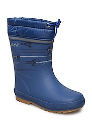 Thermal wellies AOP with linning - TRUE BLUE