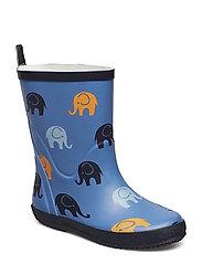 Wellies w. AO-elephants - VALLARTA BLUE