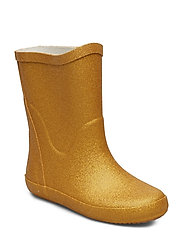 Wellies w. glitter - PALE GOLD