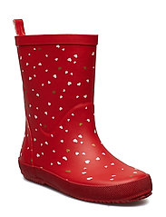 Wellies - AOP - RED