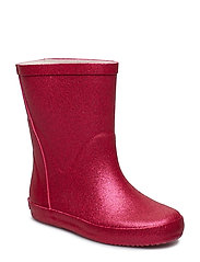 Wellies w. glitter - REAL PINK GLITHER