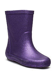 Wellies w. glitter - ROYAL PURPLE GLITHER