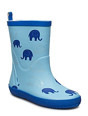 Wellies - Elephant  AOP - ALASKAN BLUE