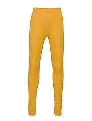 Leggings - Solid Melange Wonder wollies - MINERAL YELLOW