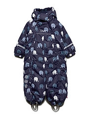 Snowsuit -elephant w 2 zippers - NAVY