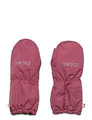 Padded mittens -solid - MAROON