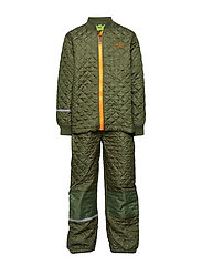 Thermal set -solid - DUSTY OLIVE