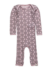Jumpsuit LS AO-printed wool - LIGHT ROSE
