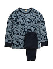Pyjamas with AOP - DARK BLUE