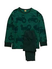 Pyjamas with AOP - DARK GREEN