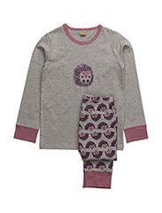 Pyjamas with hedgehogs - GREY MELANGE