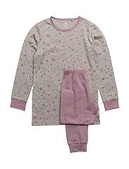 Pyjamas w. AOP  ON HANGER - ELDERBERRY