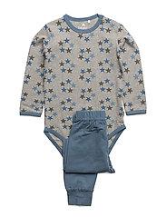 Baby Pyjamas Set - AOP - CAPTAIN'S BLUE