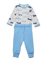 Baby Pyjamas Set - AOP - OFFWHITE MELANGE