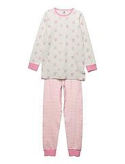 Pyjamas w. AOP  ON HANGER - MARSHMALLOW WHITE
