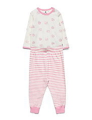 Baby Pyjamas Set -AOP - MARSHMALLOW WHITE