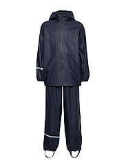 Basic rainwear set -Recycle PU - DARK NAVY