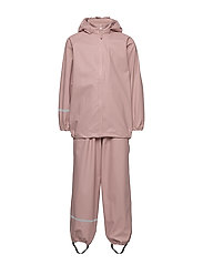 Basic rainwear set -Recycle PU - MISTY ROSE