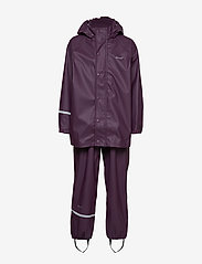 CeLaVi - Basci rainwear set, solid - regnkläder - blackberry wine - 1