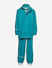 CeLaVi - Basci rainwear set, solid - regntøy - turquoise - 0