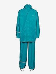 CeLaVi - Basci rainwear set, solid - regntøy - turquoise - 2