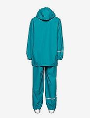 CeLaVi - Basci rainwear set, solid - regntøy - turquoise - 3