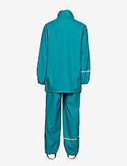 CeLaVi - Basci rainwear set, solid - regntøy - turquoise - 4