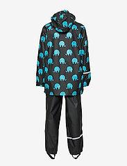 CeLaVi - Rainwear set w. elepant print - sæt & heldragter - black - 3