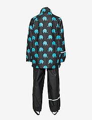CeLaVi - Rainwear set w. elepant print - sæt & heldragter - black - 4