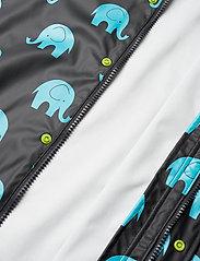 CeLaVi - Rainwear set w. elepant print - sæt & heldragter - black - 9