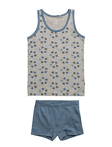 Underwear set w.boy print - CAPTAIN'S BLUE