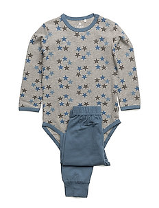 Baby Pyjamas Set - AOP - CAPTAIN'S BLUE