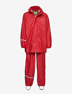 Basci rainwear set, solid - regntøy - red