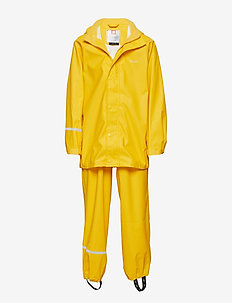Basci rainwear set, solid - regntøy - yellow